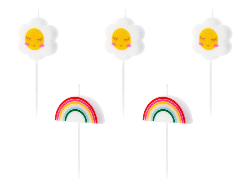 Sveces kūkai Daisy 2-3.5cm, krāsainas