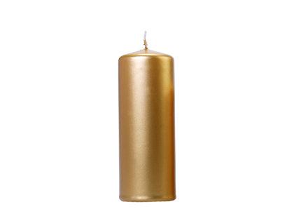 Svece cilindra formā 15x6cm, zelta tonī