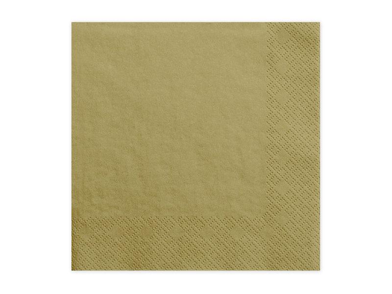 Salvetes 33x33cm, zelta tonī