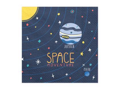 Salvetes Space adventure 33x33cm, zilos toņos