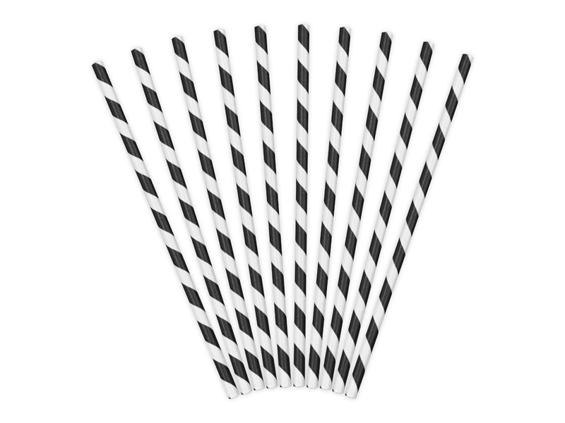 Salmiņi 19.5cm, strīpaini melns ar baltu