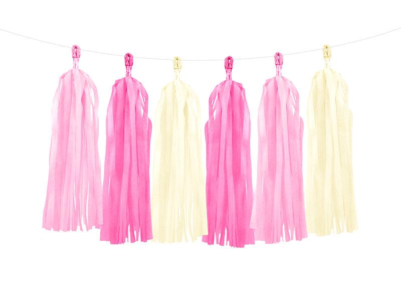 Virtene skaru 30x150cm, dažādos rozā toņos