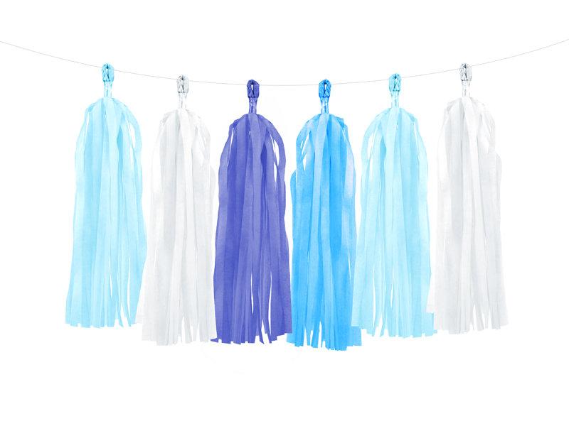 Virtene skaru 30x150cm, dažādos zilos toņos