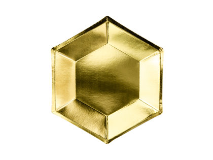 Šķīvji Melnā elegance 20cm, zelta tonī