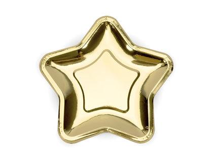 Šķīvji 23cm, zvaigznes formā zelta tonī