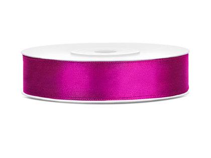 Lente atlasa 12mm/25m, fuksijas rozā