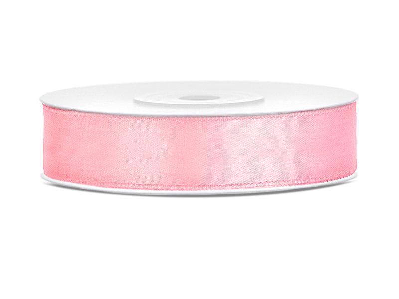 Lente atlasa 12mm/25m, maigi rozā