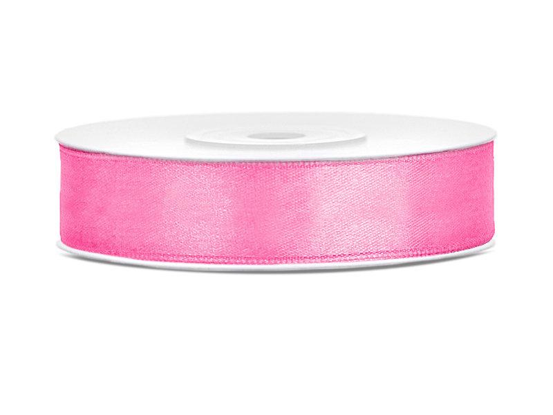 Lente atlasa 12mm/25m, rozā