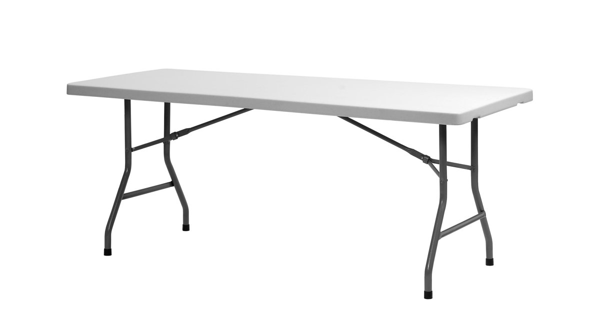 Taisnstūra galds saliekams XL180, gaiši pelēks