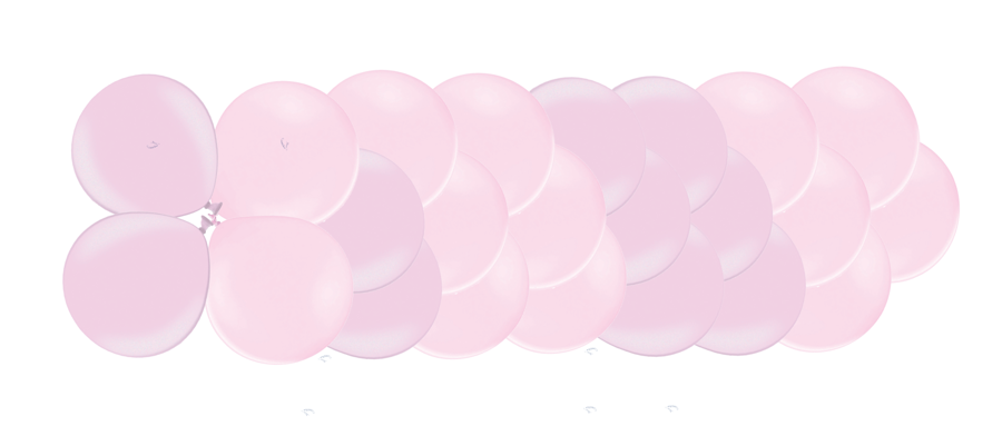 Klasiskā virtene 1.dzimšanas diena, maigi rozā
