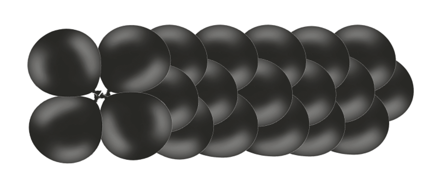 Klasiskā virtene Melnā elegance