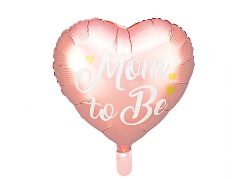 Folija balons Mom to be, 35cm, rozā