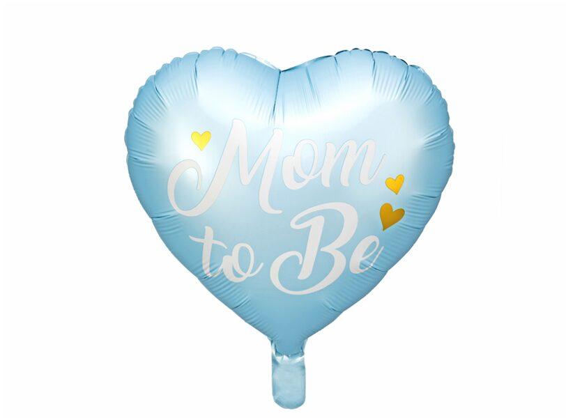 Folija balons Mom to be, 35cm, zils