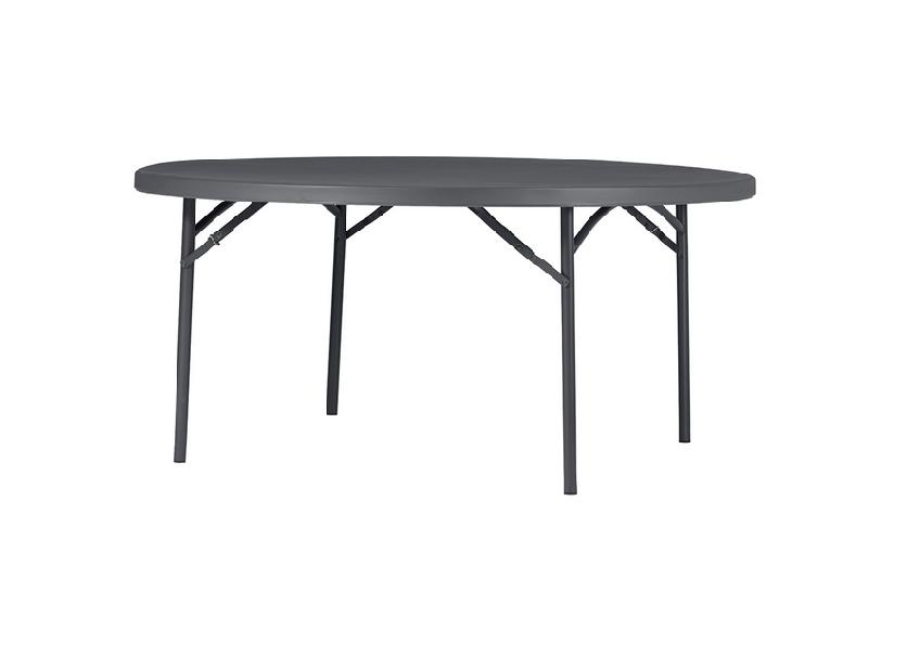 Apaļš galds saliekams Planet120 NC, tumši pelēks