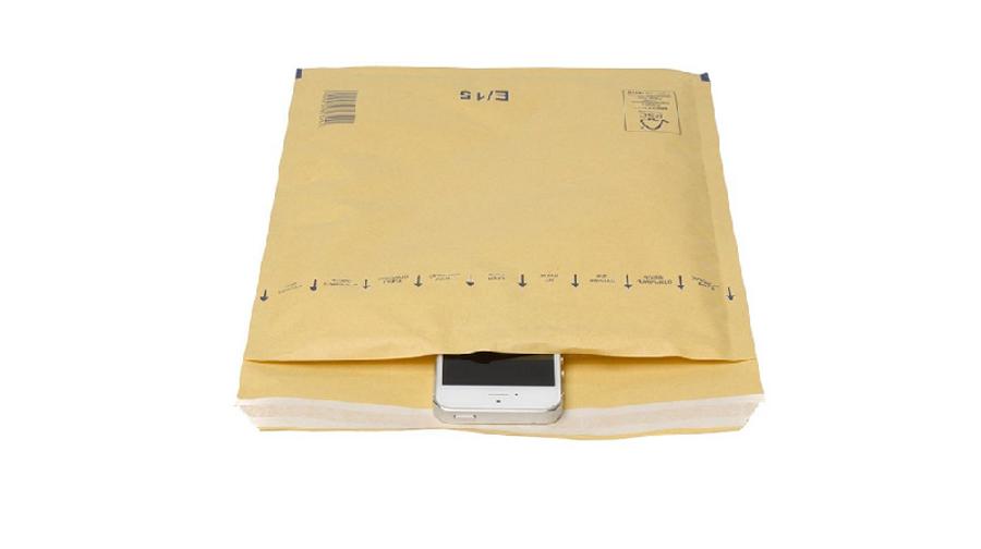 Aploksne sūtījumiem polsterēta 18x26cm, brūna