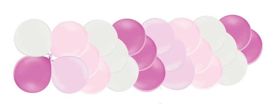 Klasiskā virtene Dzimšanas diena, rozā toņos