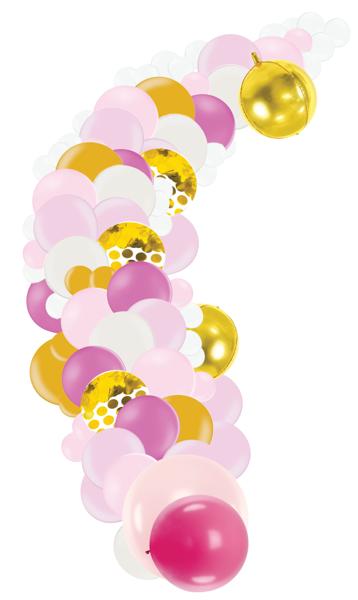 Fotosesijas virtene Dzimšanas diena, rozā toņos