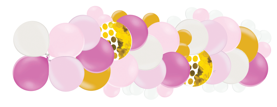 Mākslinieciskā virtene Dzimšanas diena, rozā toņos