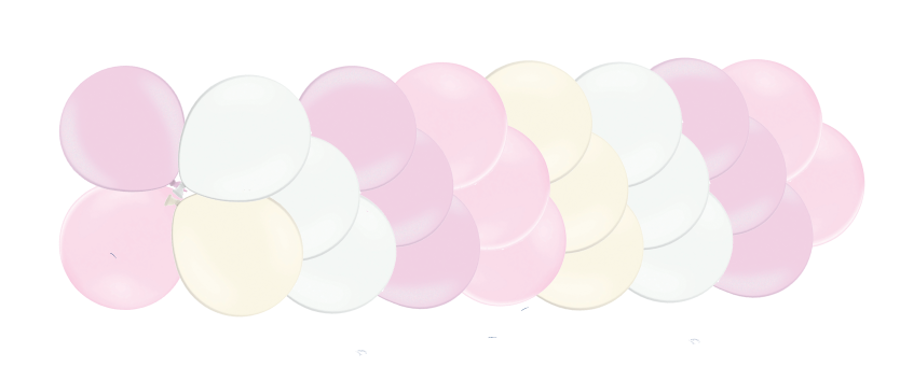 Klasiskā virtene Saldumi, maigi rozā